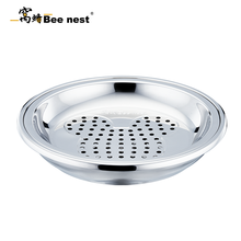窩蜂無磁鉑金雙層多用盤加厚餃子盤瀝水蒸盤水果盤多功能