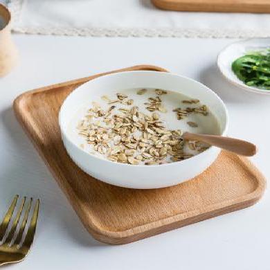 摩登主婦日式一人食陶瓷餐具套裝家用早餐套裝實木點心盤子托盤