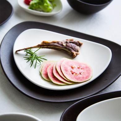 摩登主婦歐式簡約復古異性西餐盤方形牛排水果點心盤多型可選