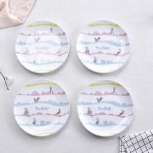 英國比得兔 西餐盤子碟子陶瓷托盤菜盤餐具牛排個性創意圓形家用