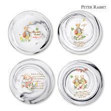 英國比得兔大理石紋圓盤4件套家用餐盤水果盤高顏值套裝陶瓷盤