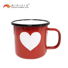晶簡生活金典琺瑯杯創意搪瓷杯咖啡杯情侶馬克杯