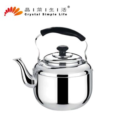 晶簡無磁不銹鋼水壺燒水壺超大容量特厚蘋果水壺