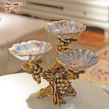 浮生 歐式宮廷復古水果盤高端樹脂干果碟客廳茶幾擺設家居裝飾品