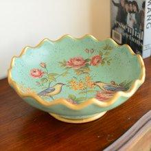 墨菲美式復古陶瓷大號水果盤 歐式田園客廳茶幾軟裝零食盤干果盤