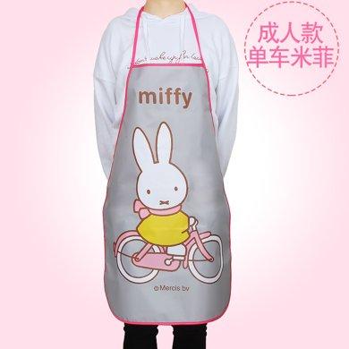 姣兰 米?#21697;?#27700;加厚 无袖防水围裙做饭厨师罩衣 儿童亲子围裙