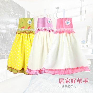 姣蘭 加厚加大連衣裙式擦手巾 廚房洗手間掛式超細纖維擦手巾