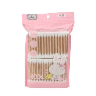 姣兰 优质双头棉棒化妆卸妆清洁木轴棉签400支 200支独立包