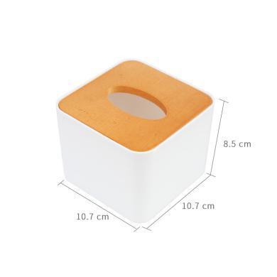 日式紙巾盒原木創意簡約客廳家用抽紙盒餐巾盒卷紙盒
