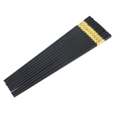 筷子家用酒店高檔餐具合金筷子5雙裝日式快子家庭防滑非實木筷子
