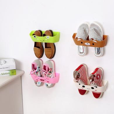 印花卡通客廳衛浴掛壁波浪分隔立體創意門后墻面DIY組合收納鞋架