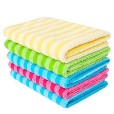 美丽?#25293;?#21147;净彩条多用巾 家具擦拭布 洗碗巾  (买四赠一)