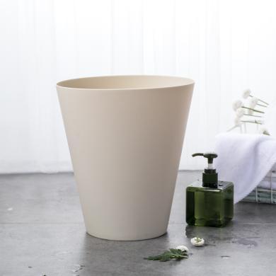 佐敦朱迪Jordan&Judy簡約垃圾桶   歐式創意家用垃圾桶垃圾簍客廳臥室雜物收納桶 淺灰色