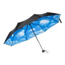 防紫外線防曬可愛裝飾遮陽小黑傘西瓜檸檬 創意防風晴雨傘男女