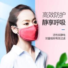 零听滤片活性炭个性防护口罩工业粉尘春季PM2.5透气口罩男女士(女士款)