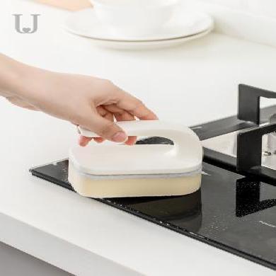 佐敦朱迪台面刷 带把手魔力擦厨?#20811;?#27133;池刷子浴室清洁刷子海绵擦