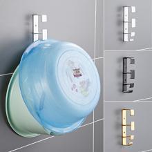 免打孔墙壁脸盆挂钩浴室创意无痕挂架卫生间强力壁挂脸盆架挂盆架