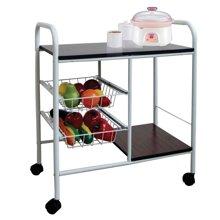 雅客集白色移动厨房置物架 多功能餐车ML-13150