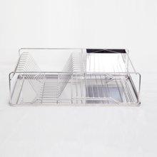 雅客集方形大容量不锈钢碗盘架ML-14081 沥水架厨房置物架