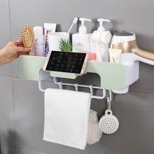 浴室置物架免打孔卫生间多功能收纳架吹风机架毛巾挂钩挂架