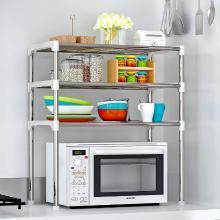 索爾諾  新品居家大號實用落地式鐵藝廚房浴室層架 隔板置物架z103