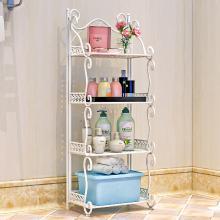 索爾諾  鐵藝浴室置物架 落地衛生間臉盆架 洗手間廚房收納儲物層架Z674