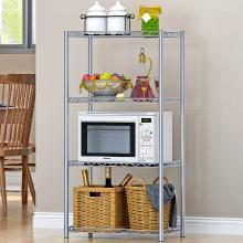 索爾諾  4層置物架落地層架 廚房浴室衛生間整理收納微波爐架子Z4