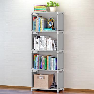 索爾諾 簡易書架書柜置物架創意組合層架子落地兒童書櫥sjsx-105