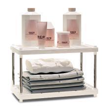 索爾諾 置物架 廚房層架塑料落地收納儲物架 浴室客廳整理架子兩層z612