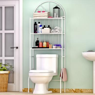 索爾諾  衛生間浴室置物架廁所洗手間收納架落地洗衣機馬桶架 z713