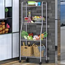 索爾諾  置物架廚房 落地浴室層架 衛生間臥室客廳收納儲物架子帶輪z834