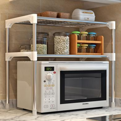 索爾諾  兩層置物架浴室層架儲物架廚房微波爐架子收納架Z002