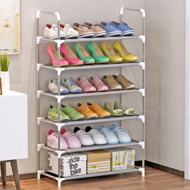 索爾諾 簡易6層鞋架 防銹鋼管鞋架A06