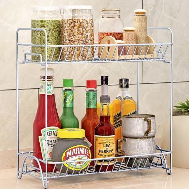 索爾諾  廚房置物架 落地調味料架浴室層架 臥室2層儲物架z622