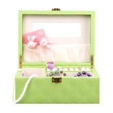 雅客集心语佳人小号化妆首饰盒(绿色)FB-14096