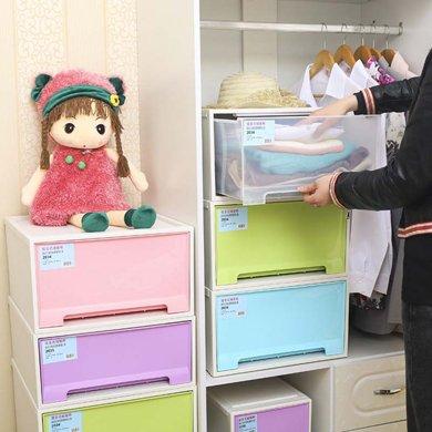 優質塑料PP收納柜 加厚抽屜儲物柜鞋子雜物整理柜家居衣物床頭柜