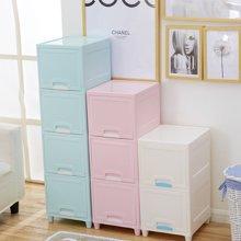 阡佰家 衣物收納箱 塑料客廳儲物箱臥室放物箱衛生間多層收納柜兒童箱子