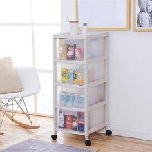 阡佰家 抽屉式收纳柜塑料百纳柜多层储物柜 带轮透明整理柜可视收纳箱子
