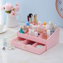 韩国化妆品收纳盒抽屉组合式化妆品盒塑料特大号透明桌面收纳盒