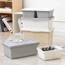 塑料整理收纳箱 衣物储物箱 客厅卧室杂物箱收纳箱四件套