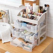 化妝品收納盒辦公桌面整理盒儲物盒抽屜式收納整理柜護膚品置物架