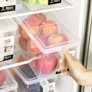 日本和匠廚房帶蓋手柄冰箱收納盒水果食品塑料儲物保鮮盒