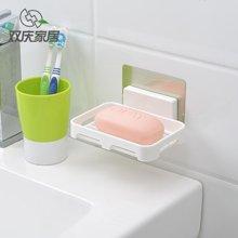 双庆浴室塑料肥皂盒香皂架创意吸盘香皂盒肥皂架双层沥水皂盒皂托SQ-5050