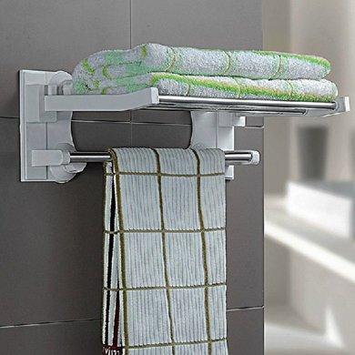 雙慶強力吸盤毛巾架不銹鋼毛巾掛毛巾置物架浴室掛毛巾架免打孔SQ-1905/6