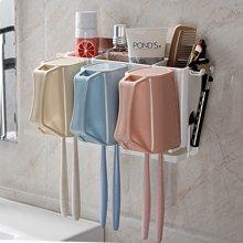 双庆吸盘式牙刷置物架免打孔牙膏牙刷架创意牙刷架套装壁挂涑口杯SQ-5154