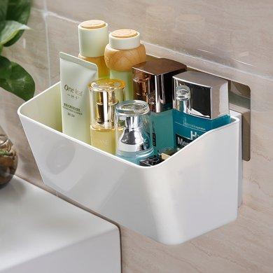 雙慶吸盤式收納架廚房免打孔墻上塑料壁掛架廁所衛生間浴室置物架SQ-5052