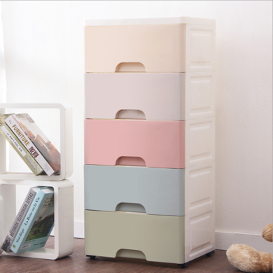 馬卡龍抽屜式收納柜塑料收納箱整理柜儲物柜寶寶衣柜嬰兒玩具柜
