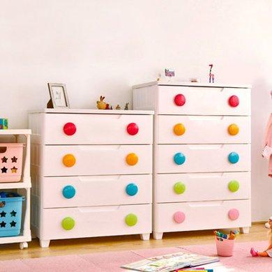 愛麗思抽屜式收納柜子IRIS塑料兒童衣服多層儲物柜寶寶衣柜五層MG725/MG555