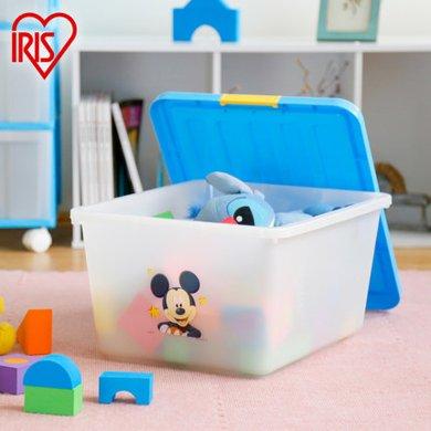 愛麗思收納箱28L 迪士尼兒童玩具衣物樹脂收納儲物盒M25KS整理箱藍色