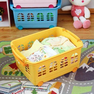 愛麗思IRIS 可疊加塑料收納箱兒童收納籃玩具整理筐KC-540 粉紅色
